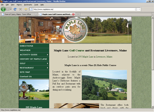 Maple Lane Golf Course and Restaurant Livermore, Maine